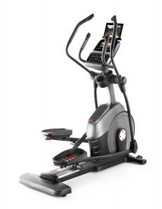 Best Elliptical Trainer no. 2. ProForm 1310E Elliptical Trainer. The 1310E is extremely quiet with a wide base which makes it quite sturdy; it also has high-level extras like iPod connection and speakers, fan and an iPad holder.
