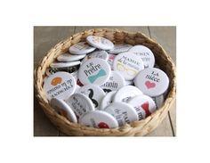Badges personnalisé mariage
