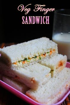 This is a simple yet healthy sandwich to put together. Yes i said it is healthy because the mayo which i used here is eggless mayo s. Tea Sandwiches, Finger Sandwiches, Healthy Sandwiches, Vegetarian Sandwich Recipes, Gourmet Recipes, Appetizer Recipes, Snack Recipes, Simple Veg Sandwich Recipes, Indian Sandwich Recipes