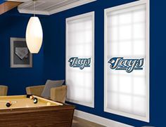 Custom MLB window blinds and shades. Our Toronto Blue Jays roller shades come in various logos and colors. Window Blinds & Shades, Blinds For Windows, Mlb Teams, Hunting Blinds, Roller Shades, Toronto Blue Jays, Ultimate Collection, House Rooms, Window Treatments