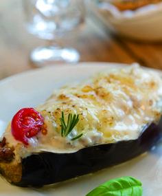 Berenjenas rellenas con Cuisine Companion. Comer verdura nunca fue tan divertido. Toma nota de la receta completa en: http://www.clubcocinamoulinex.es/recetas/detalle/424