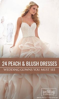 24 Stunning Peach & Blush Wedding Gowns You Must See ❤ We love the peach and blush colours of these wedding gowns. Blush wedding dresses are great alternative for traditional white and ivory gowns. See more: http://www.weddingforward.com/peach-blush-wedding-dresses/ #wedding #dresses #peach #blush