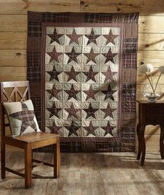 Abilene Star Quilted Throw – Primitive Star Quilt Shop: