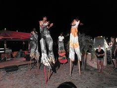 Jumbies party.  Leverick Bay BVI wonderful memories there