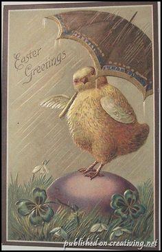 Винтажные пасхальные открытки