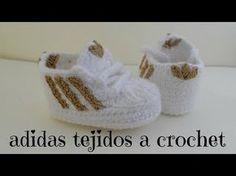 zapatito adidas tejidos a crochet primera parte - YouTube