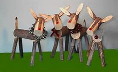 Reindeer Made From Logs - Bing images