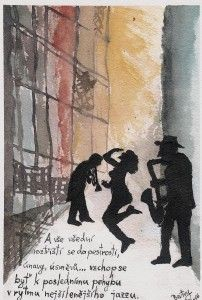The Rhythm of Jazz Painting, Art, Watercolor Art