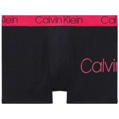Calvin Klein Cotton Stretch Trunk, Black With Downtown Pink Waistband Calvin KleinCotton Stretch Trunk, Black With Downtown Pink Waistband Limited Edition Low Rise Trunk Contour Pouch For Support And Comfort Features Signature CK waistband 91% Nylon / 9% Elastane Calvin Klein Men, Lounge Wear, Boxer, Casual Shorts, Trunks, Gym Shorts Womens, Underwear, Swimwear, Pink