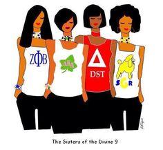 Sisters of the Divine 9 Omega Psi Phi, Alpha Kappa Alpha Sorority, Zeta Phi Beta, Delta Sigma Theta, Aka Sorority, Sorority And Fraternity, Sorority Life, Sorority Sisters, Panhellenic Council