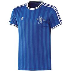 Show your love for the Blues with the men s adidas Originals Retro Chelsea  Football Club Tee shirt. Inspired by Chelsea s vintage jerseys 943e9befe4c