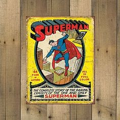 13 Deals - NEW STYLES AVAILABLE - Officially Licensed Retro Comic Book Tin Signs - Marvel and DC - Made in the USA - SHIPS FREE!