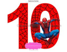 Spiderman Pasta, Spider Clipart, Spiderman Cake Topper, Spider Cake, Blackwork Cross Stitch, Birthday Party Centerpieces, Printable Numbers, Number 10, Superhero Party