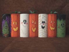 painted halloween bricks