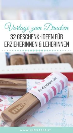 Eine wunderschöne DIY Gebschenksidee für Erzieherinnen und Lehrerinnen. Einfach gemacht und mit der einer Schritt für Schritt Vorlage zum Download.