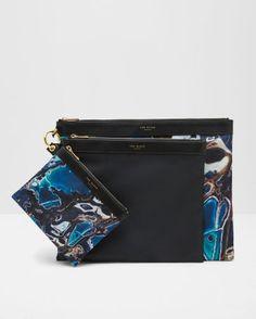 Blue Lagoon triple pouch set