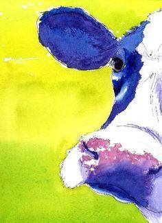 Cow Print from #etsy user eringopaint $30