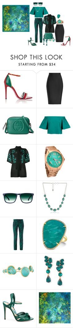 """I miss her bright smile"" by blujay1126 ❤ liked on Polyvore featuring Gucci, Roland Mouret, TIBI, Elie Saab, FOSSIL, X-Ray, Vintage America, Erdem, Anne Sisteron and Ippolita"