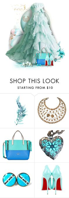 """""""Vibrant Blue"""" by wildnature ❤ liked on Polyvore featuring WALL, GUESS and Christian Louboutin"""