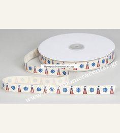 Κορδέλα βαμβακερή οικολογική με σχέδιο φάρο Plates, Tableware, Licence Plates, Dishes, Dinnerware, Griddles, Tablewares, Dish, Place Settings