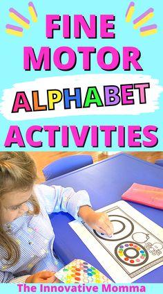 Looking for a fun way to practice letters and sounds with your preschool or kindergarten child? In this video, I'm sharing 10 fine motor alphabet activities for preschoolers and kindergarteners! These alphabet activities are easy, engaging and fun! PLUS most of the printable activities you'll see are available to download for FREE from my Early Childhood Resource Library! Preschool Activities At Home, Fine Motor Activities For Kids, Alphabet Activities, Infant Activities, Fun Activities, Kindergarten Readiness, Preschool Kindergarten, Toddler Preschool, Baby Development Milestones