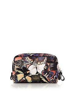I love my Valentino Camu Butterfly Nylon Washbag