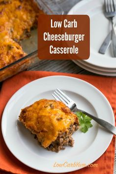 Your family and friends will love this easy low carb bacon cheeseburger casserole. Makes enough to feed a crowd easily.