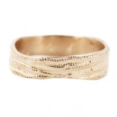 Lauren Wolf Jewelry Men's Gold Sea Urchin Wedding Band