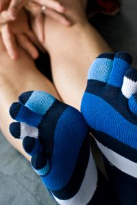 Toe socks hug each toe individually, tabi socks have a unique split toe, and both give you superior comfort and balance without adding extra bulk to your shoes. Knee Highs, Thigh Highs, Tabi Socks, Running Socks, Five Fingers, Colorful Socks, Beautiful Wife, Sport Socks, High Knees