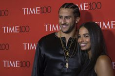 Colin Kaepernick distributes suits outside New York parole office