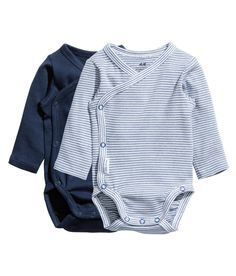 Check this out! CONSCIOUS. Wrap-front bodysuits in soft, organic cotton jersey with long sleeves. Snap fasteners at side and gusset. - Visit hm.com to see more.