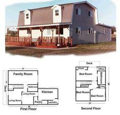 Free Pole Barn Plans Gambrel   Pole Barn House Plans   Home Design Central Blog