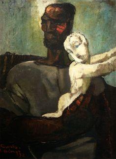 "Kārlis Padegs, ""Father and Son"" 1932"