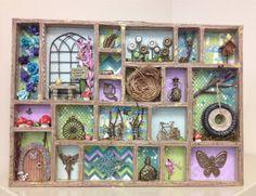 Fairy Garden Printer Tray Shadow Box Tim by enchantedephemera