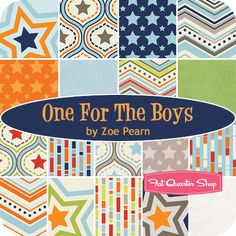 Perfect to coordinate TnTs kitty fabric! One For The Boys Fat Quarter Bundle Zoe Pearn for Riley Blake Designs - Fat Quarter Shop