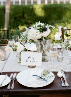 #tablescapes  Photography: Jesse Leake  - jesseleake.com Florist: Sharla Flock Designs - sharlaflockdesigns.com Venue: Meadowood Napa Valley - www.meadowood.com/
