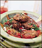 The small amount of beef in these artichoke meatballs helps hold them together. If artichokes are unavailable, substitute plain mashed potatoes. Meatball Recipes, Meat Recipes, Wine Recipes, Food Processor Recipes, Roasted Artichoke Recipe, Artichoke Recipes, Artichoke Season, Paleo Diet Menu, Herb Salad