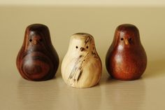 Small Woodturning Birds - Get them here! http://www.etsy.com/listing/159001566/woodturning-bird-small?ref=shop_home_active