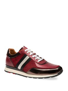 BallyAstreo Round Toe Lace-Up Sneakers m87Bd