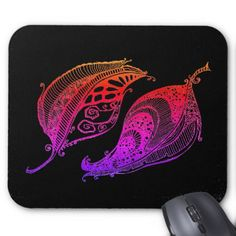 URBAN LEAVES-COOL GRAPHIC MOUSEPAD - cool gift idea unique present special diy