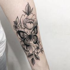 Forearm Sleeve Tattoos, Forearm Tattoo Design, Leg Tattoos, Body Art Tattoos, Girl Tattoos, Tattoos For Women, Sunflower Tattoo Sleeve, Sunflower Tattoos, Butterfly Sleeve Tattoo