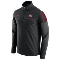 9d5d0a5e Nike Ohio State Buckeyes Heathered Black 2016 Elite Coaches Dri-FIT 1/2 Zip
