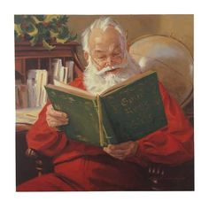 Santa Claus book reading