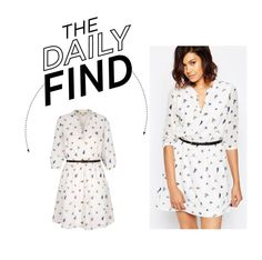 """""""The Daily Find: Yumi Bird Print Shirt Dress"""" by polyvore-editorial ❤ liked on Polyvore featuring Yumi and DailyFind"""