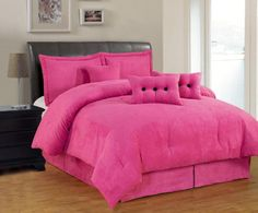 Bed Linen And Curtain Sets Closet Bedroom, Bedroom Bed, Dream Bedroom, Bedroom Decor, Bedroom Ideas, Pink Bedrooms, Pink Bedding, Big Girl Rooms, Pink Walls