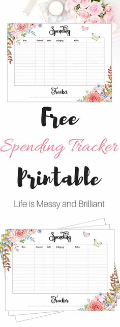 Stay on top of your spending habits with this cute bullet journal spending tracker printable. This bullet journal spending tracker log has beautiful flowers on the corners of the page to five it a chich touch. Planner Pages, Printable Planner, Free Printables, Freebies Printable, Printable Templates, Monthly Planner Template, Bullet Journal Printables, Journal Template, Bullet Journals