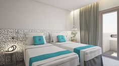 Elakati Luxury Boutique Hotel, located in the town of Rhodes, features themed rooms and suites that transfer guests to holiday settings. Rhodes, Boutiques, Resorts, Rest And Relaxation, Room Themes, One Bedroom, Second Floor, Greece, Furniture