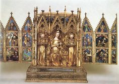 Home Altar of Queen Elisabeth Painted and gilded silver Metropolitan Museum of Art, New York Art Through The Ages, Meditation Altar, Home Altar, Woodworking Techniques, Bone Carving, Medieval Art, Gothic, 15th Century, Art And Architecture