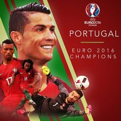 Portugal Champions Of Europe As They beats France to win Cr7 Portugal, Portugal Soccer, France Portugal, France 1, Portugal Travel, Portugal Football Team, Portugal Euro 2016, Uefa Euro 2016, Beginning Sounds