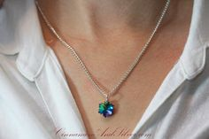 Crystal Snowflake Pendant Necklace Sparkling by CinnamonandSilver